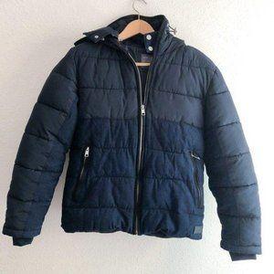 Zara Man Winter Coat Jean Puffer Size Medium